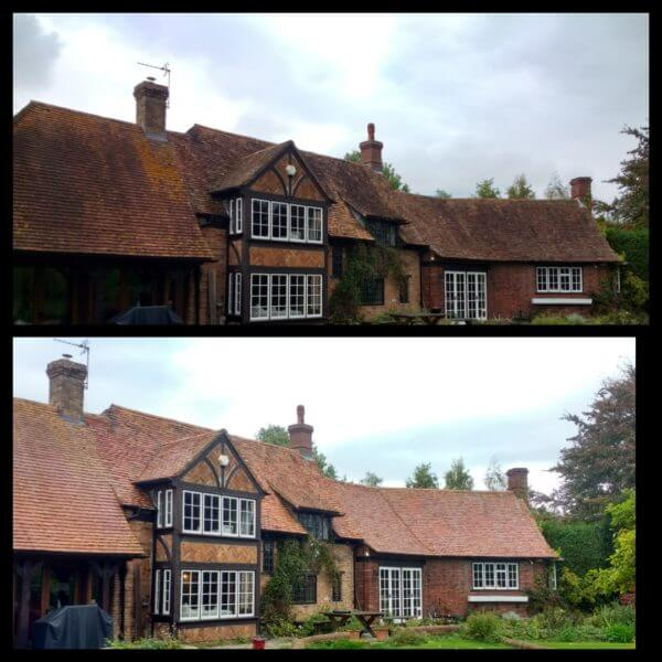 Roof cleaning in woking