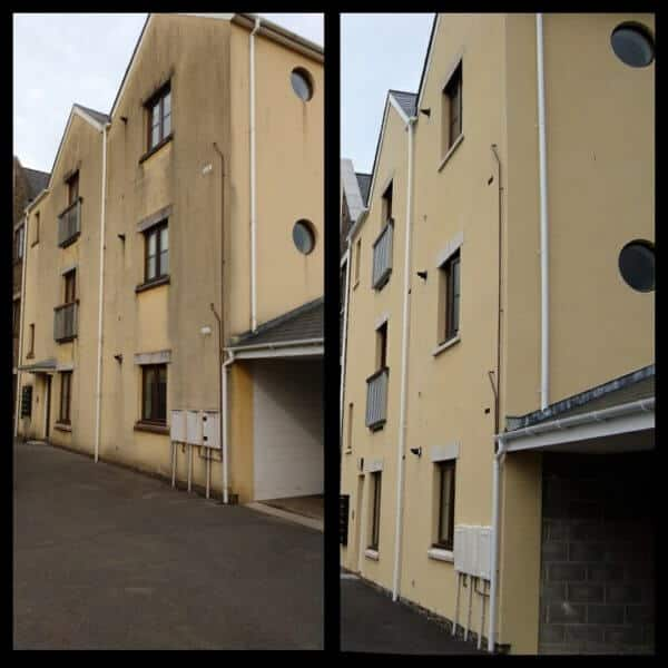 render cleaning West Wales