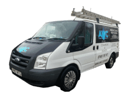 image of AWC roof cleaning van