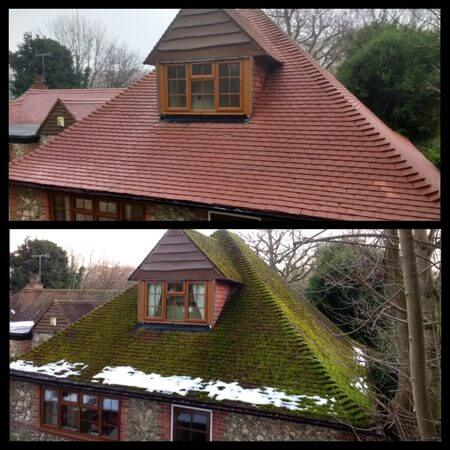 Roof Clean and moss removal in windsor