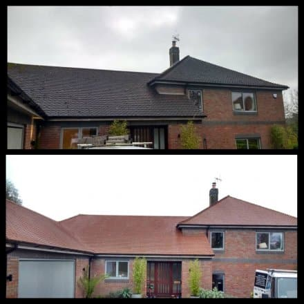 image of roof clean