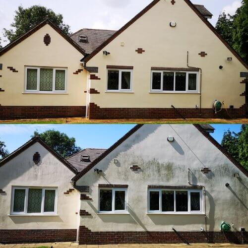 Monocouche Render cleaning in West Wales